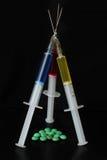 Hypodermics della medicina Fotografie Stock