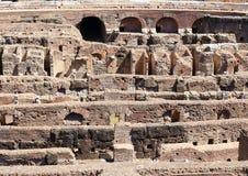 Hypogeum nos detalhes, Colosseum, Roma Imagens de Stock Royalty Free