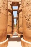 Hypostilhall von Karnak Stockfoto