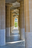 Hypostyle Hall of Park Guell Stock Photography