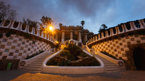 The Hypostyle Hall in a park Guell Stock Photo