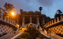 The Hypostyle Hall in a park Guell Stock Photography