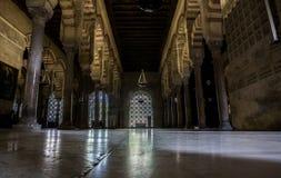Hypostyle korridor på den stora moskén, Cordoba, Spanien Jordsikt Fotografering för Bildbyråer