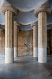 Hypostyle Room in Park Guell Stock Image