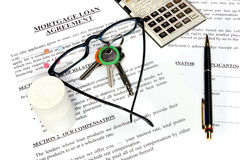 hypothèque d'emprunt de formulaire de demande Photo libre de droits