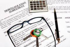 hypothèque d'emprunt de formulaire de demande Image libre de droits