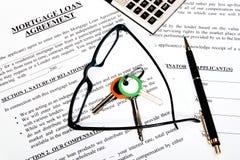 hypothèque d'emprunt de formulaire de demande Images libres de droits