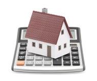 hypothèque de calculatrice Images stock