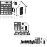 hypothèque de calculatrice Photographie stock