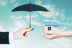 Hypothèque et concept d'assuarance photos stock