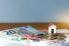 Hypothèque et prêt pour acheter une maison Photographie stock