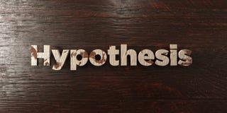 Hypothèse - titre en bois sale sur l'érable - image courante gratuite de redevance rendue par 3D illustration de vecteur
