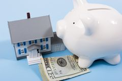 Hypotheek en aanbetaling royalty-vrije stock foto