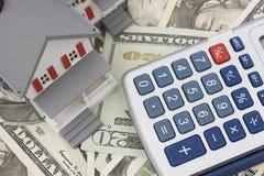 Hypotheek en Aanbetaling royalty-vrije stock afbeeldingen