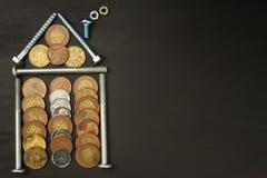 Hypotheek om een huis te bouwen Stock Afbeelding