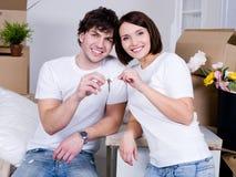 Hypotheek voor jonge familie Stock Fotografie
