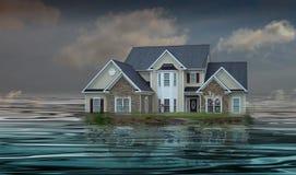 Hypothek, die in Schuld sinkt Stockbilder