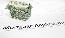Hypotheken-APP Stockfoto