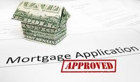 Hypotheken-APP-Zustimmung Lizenzfreies Stockfoto