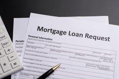 Hypotheken-Dokumente lizenzfreies stockbild