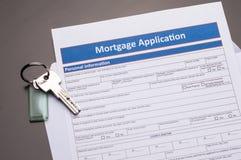 Hypotheken-Dokumente lizenzfreies stockfoto