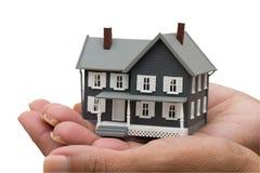 Hypotheken-Hilfe Stockfotografie