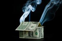 Hypotheken-Krisen-Serie Stockbilder