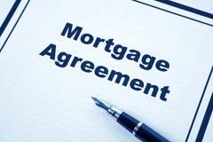 Hypotheken-Vereinbarung stockbilder