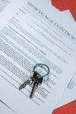 Hypotheken-Vertrag lizenzfreie stockfotografie