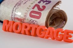 Hypotheken-Zahlung Stockfotos