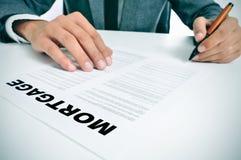 Hypothekendarlehendarlehensvertrag stockfotos