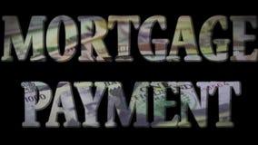 Hypothekenrate - Ausgabe und Schuld, die Konzept sammeln stock video