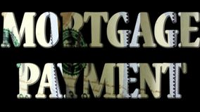Hypothekenrate - Ausgabe und Schuld, die Konzept sammeln stock footage