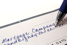Hypothekenzahlung Lizenzfreies Stockbild