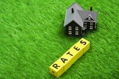 Hypothekenzinssätze Stockbild