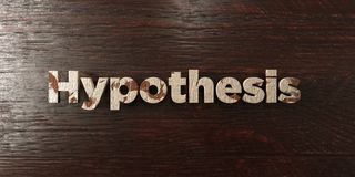 Hypothesis - grungy wooden headline on Maple - 3D rendered royalty free stock image. This image can be used for an online website banner ad or a print postcard vector illustration
