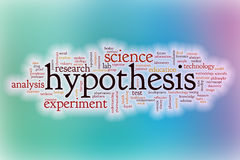 Hypothesis word cloud with abstract background Stock Images