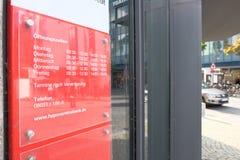 Hypovereinsbank öppettider Arkivbild
