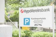 HypoVereinsbank customer parking Royalty Free Stock Photo
