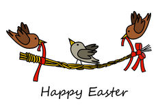 Hyppy Easter  birds garland Royalty Free Stock Photos