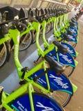 Hyra cyklar i Seattle Washington Royaltyfri Foto