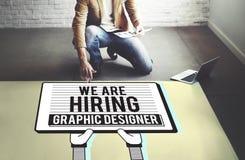 Hyra det Creative Sketch Visual för grafisk formgivare begreppet Royaltyfri Fotografi