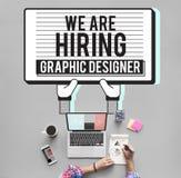 Hyra det Creative Sketch Visual för grafisk formgivare begreppet royaltyfri illustrationer