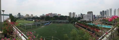 Hyra det Futsal fotbollfältet Singapore arkivfoto