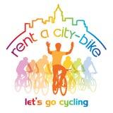 Hyra en cykel royaltyfri fotografi