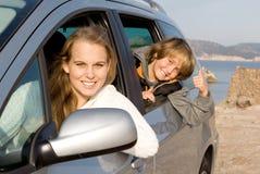 hyra för bilfamiljhyra Arkivbild