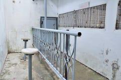 Hyra rum för att tala till släktingarna av fång. Royaltyfri Foto