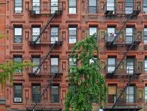 Hyreshus för östlig sida för Manhattan upper arkivbilder