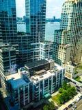 Hyreshusar i Manhattan Arkivbild