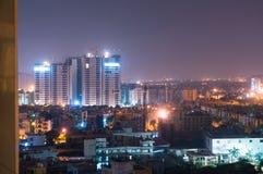 Hyreshusar i Noida Arkivfoto